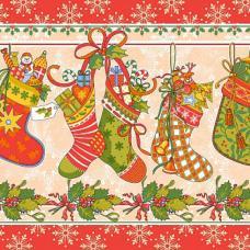 """Набор вафельных полотенец 3 шт №19222/1 """"Новогодние подарки""""  50/80 см"""