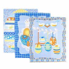 Набор вафельных полотенец 3 шт №451/1 Пасхальная открытка 50/60 см