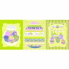 Набор вафельных полотенец 3 шт №451/2 Пасхальная открытка 50/60 см