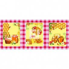 Набор вафельных полотенец 3 шт. Мед цв. розовый 50/60 см