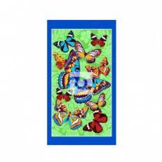 Полотенце вафельное пляжное Бабочки 150/80