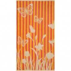 Полотенце махровое Cleanelly Flighty 50/90 см, оранжевый