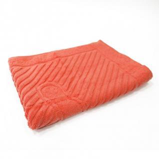 Полотенце махровое 50*70 ножки 700гр Туркменистан цв. коралловый