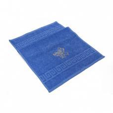 Махровое полотенце с вышивкой 40/70 Бант цвет синий