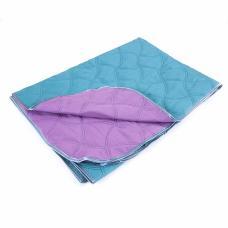 Покрывало детское фиолетовый-изумрудный 105/150 см