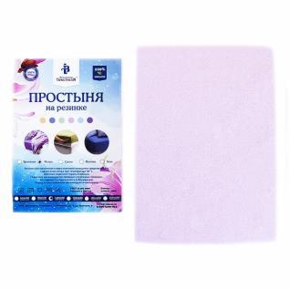 Простынь на резинке махровая цвет розовый 180/200 см
