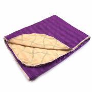 Покрывало шелк двухстороннее фиолетовый-желтый 150/210