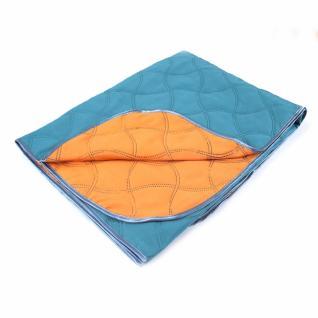 Покрывало детское изумрудный-оранжевый 105/150 см