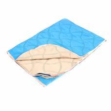 Покрывало детское голубой-бежевый 105/150 см
