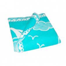 Одеяло детское байковое жаккардовое 140/100 см цв. бирюзовый