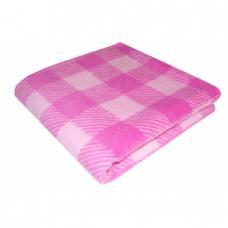 Одеяло детское байковое жаккардовое Клетка 140/100 см. цв. розовый