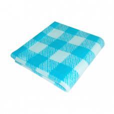 Одеяло детское байковое жаккардовое Клетка 140/100 см. цв. синий/голубой