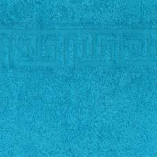 Простынь махровая цвет Бирюза р.190/200