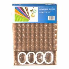 """Шторы для ванны 3D """"Chaona"""" цвет коричневый р. 180/180"""