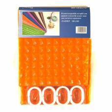 "Шторы для ванны 3D ""Chaona"" цвет оранжевый р. 180/180"