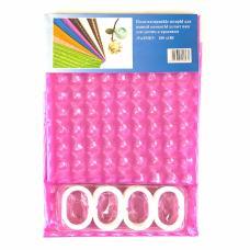 """Шторы для ванны 3D """"Chaona"""" цвет розовый р. 180/180"""