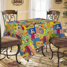 Столовый набор Дымка, скатерть полулен 150/150 + 6 салфеток