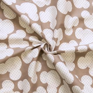 Ткань на отрез бязь плательная №1717/18 цвет кофе