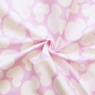 Ткань на отрез бязь плательная №1717/2 цвет розовый