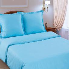Ткань на отрез поплин гладкокрашеный 115 гр. цв. Голубой 220 см