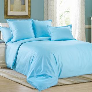 Сатин гладкокрашенный на отрез №WSB-005 цвет голубой 220 см
