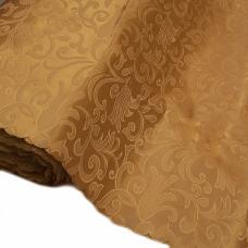 Портьерная ткань на отрез №12 цвет золото (вензель) 150 см