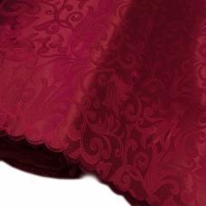 Портьерная ткань на отрез №14 цвет бордовый (вензель) 150 см