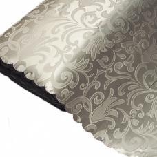 Портьерная ткань на отрез №16 цвет серый (вензель) 150 см