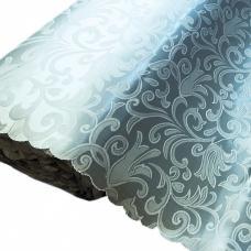 Портьерная ткань на отрез №17 цвет голубой2 (вензель) 150 см