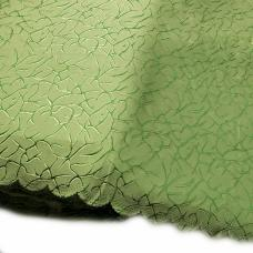 Портьерная ткань на отрез  Мрамор 150 см зеленый
