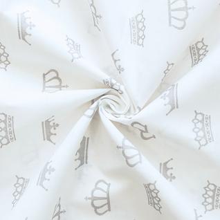 Ткань на отрез бязь плательная б/з №1695/17 цвет серый
