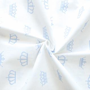 Ткань на отрез бязь плательная б/з №1695/3 цвет голубой