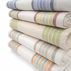 Ткань на отрез полулен полотенечный Полоска рассцветки в ассортименте шир 50