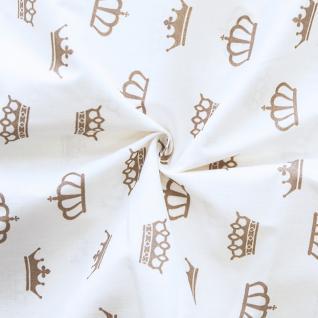 Ткань на отрез бязь плательная б/з №1695/18 цвет кофе