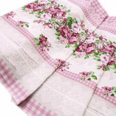 Ткань на отрез вафельное полотно набивное, 80 см №89781