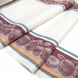 Полулен полотенечный Жаккард цв. вишнёвый, шир. 50