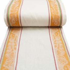 Полулен полотенечный Жаккард цв. оранжевый, шир. 50