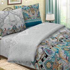 Ткань поплин Волшебная ночь голубая  115 гр. 220 см