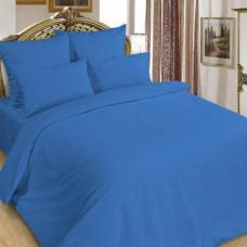 Сатин гладкокрашенный  цвет синий ширина 220 см