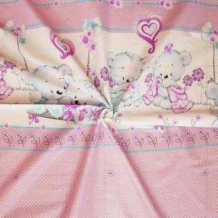 """Ткань бязь №19636/1 """"Нежность"""" основа цвет розовый"""
