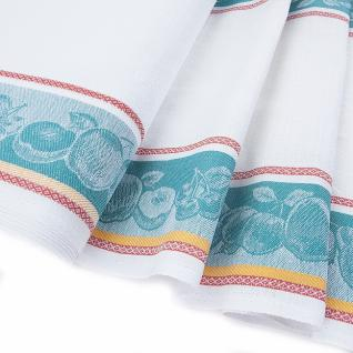 Полулен полотенечный Жаккард цвет изумрудный, шир. 50