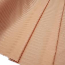 Ткань Страйп сатин полоса 1х1 см.  цвет персиковый шир. 220 см, плотность 135 гр/м2