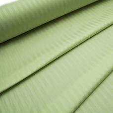 Ткань Страйп сатин полоса 1х1 см. цвет салатовый шир. 220 см, плотность 135 гр/м2