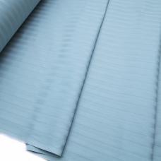 Ткань Страйп сатин полоса 1х1 см.  цвет голубой шир. 220 см, плотность 135 гр/м2