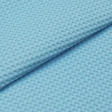 Ткань вафельное полотно г/кр цв. голубой, 150 см  премиум