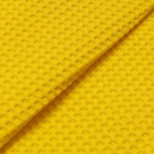 Ткань вафельное полотно г/кр цв. жёлтый, 150 см  премиум