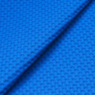 Ткань вафельное полотно г/кр цв. синий, 150 см  премиум