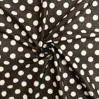 Ткань бязь плательная 1422/3 Черный фон, белый крупный горох