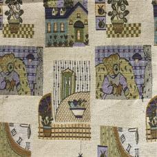 Ткань Гобелен детский рисунок Замок 150 см