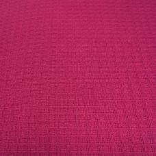 Ткань вафельное полотно гладкокрашеное цв. рубиновый, 150 см